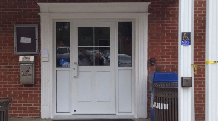 East Hanover Town Hall Entry Door Installation